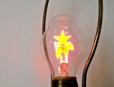 Vintage Aerolux Spectrum Cheer Lights Bulb,donkey & Star With Original Package