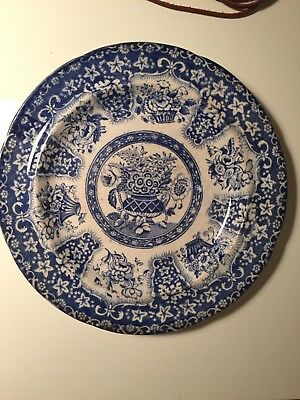 Vintage Blue and white transferware plate