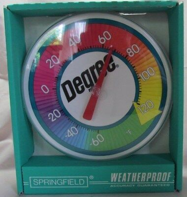 Degree Deodorant Advertising Springfield Outdoor Thermometer, NIB 1990