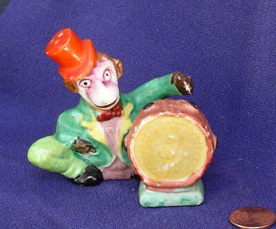 Vintage Anthropomorphic Monkey Playing a Drum Salt and Pepper Shakers Japan rare