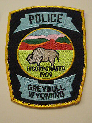 Greybull Wyoming Police Patch