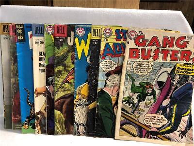 Vintage LOT of 10 Early SILVER / Late GOLDEN AGE COMICS Goldkey Dell Comic Books