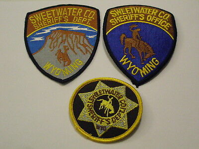 Sweetwater County Wyoming Sheriff Patch