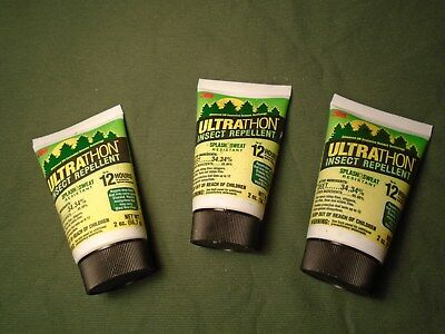 Lot Of 3 Us Military Issue Ultrathon Insect Repellent 3M 12 Hour 2 Oz Lotion New