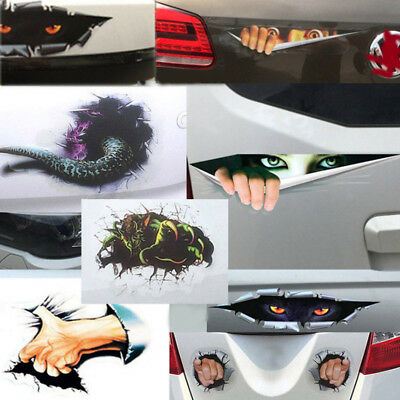 New 3D PVC Car Stickers Body Side Decal Graphics Mini Waterproof Sticker Decals