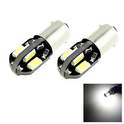 2x H6W BAX9S 8 SMD 5730 LED Parking Side Light Bulbs Xenon White 12V 6000K