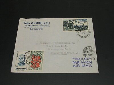 Madagascar 1959 airmail cover to Finland *3025