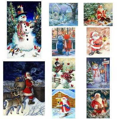 Xmas Seires DIY 5D Diamond Embroidery Painting Cross Stitch Home Craft Decor