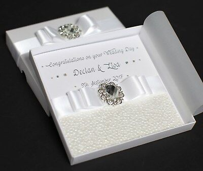 Stunning Personalised Boxed Wedding/Engagement Card..Son,Daughter,Sister,Brother