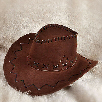 T5U1 Men/'s Women/'s Wild West Fancy Cowgirl Cowboy Old West Hat Western Headwear