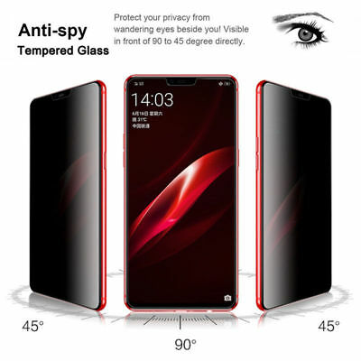 Privacy Anti Spy Glass For Huawei P20 Pro/Mate 10 Lite Tempered Glass Full Cover