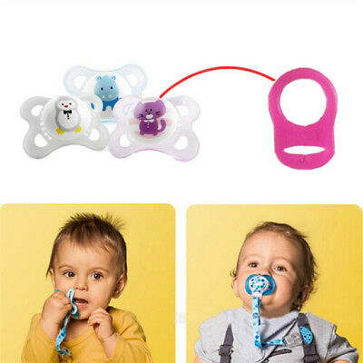 Silicone Baby Dummy Pacifier Holder Clip Adapter for Ring 5PCS Button Z