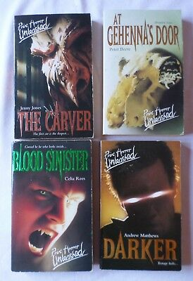 4 x POINT HORROR - UNLEASHED [Paperback Books]