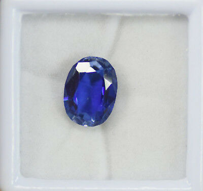 AAA+ Quality 11.30 Ct Natural Blue Ceylon Sapphire Certified Loose Gemstone