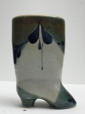 Art Pottery Ceramic Vtg Boots Vase-Pencil Holder Vase German Luzerne Keramic