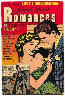 Great Lover Romance #9 1953- obscure golden age comic FN-