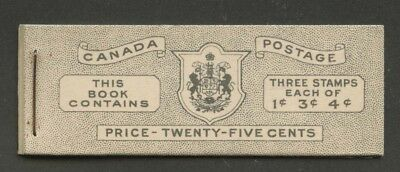 Canada 1943 KGVI War issue booklet Type II 5c&7c rates BK38b VF English