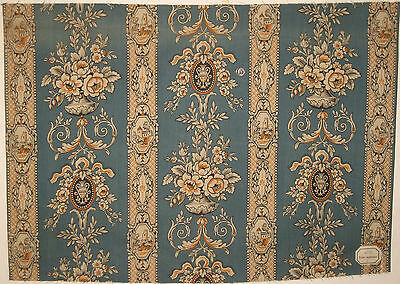 Antique Lovely Late 19th/Early 20thC. French Neoclassic Cotton Print (8624)