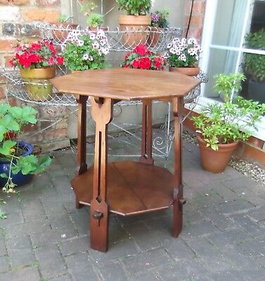 Arts & Crafts Movement Occasional Table~Side, End Or Lamp Table~Oak & Pitch Pine