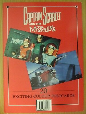 Capt. Scarlet: 20 Great Colour Postcards: Gerry Anderson: Very Unusual Item !!!