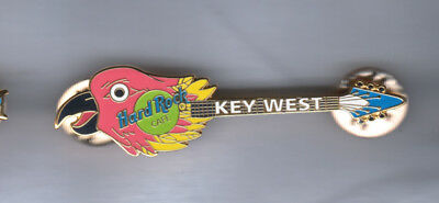 Hard Rock Cafe Pin: Key West Parrot Head Guitar
