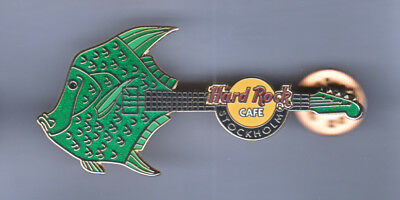 Hard Rock Cafe Pin: Stockholm Fish Guitar le300