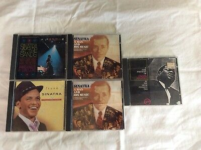 Lot Of 5 Frank Sinatra CD's, A Man and His Music - 2 Disc Set, Collectors Series