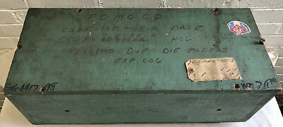 1964 Vintage Old FORD MOTOR Research shipping Wooden Crate Box w/ Paper Invoice