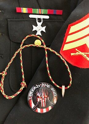 Sniper HOG TOOTH Paracord .30 Cal ...Necklace ...+ ...Red/Yellow/Black..Marines