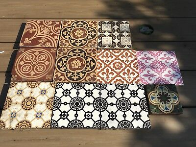 11 Antique Minton Floor & Wall Tiles  Please,see Photos
