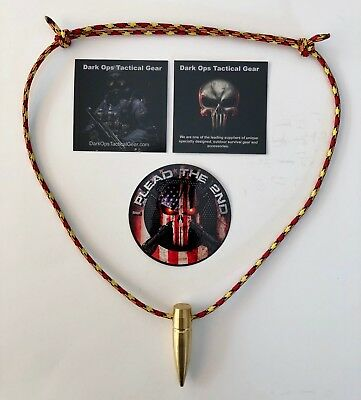 .50 Cal Sniper HOG TOOTH Paracord ...Necklace ...+ 1 Decal ...Red/Yellow/Black