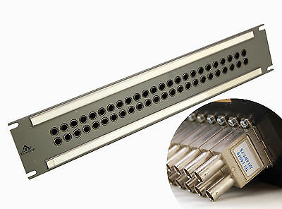 """Trumpeter 2he Video-Patch Panel 2x24 19 """" (Approx. 482 mm) Telephones"""