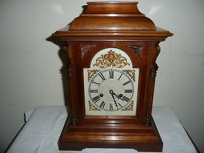 Antique, German ? Ting Tang Bracket Clock in Excellent Condition & Working.