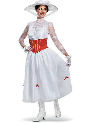 Adult's Womens Disney Mary Poppins Dress Deluxe Costume