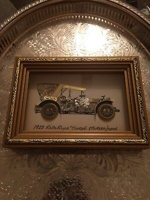 Rolls Royce Picture Bespoke  Made From Vintage Watch Parts