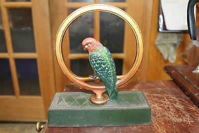 Antique Bradley And Hubbard Cast Iron Parrot Door Stop Excellent