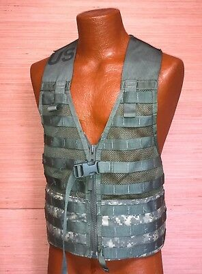 US Military Issue Army ACU Camo Fighting Load Carrier FLC Vest MOLLE Tactical