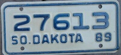 SOUTH DAKOTA Vintage 1989 MINT  Motorcycle Cycle License plate  27613   ^
