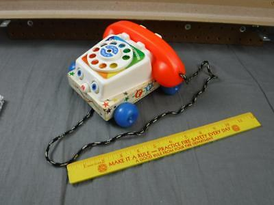 Vintage Wood Fisher Price Pull Toy Chatter Telephone 747