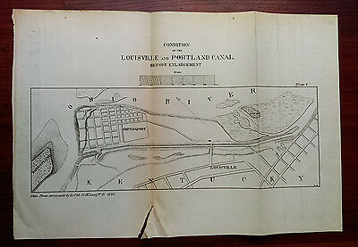 1878 Map Showing Condition of the Louisville and Portland Canal Sand Island