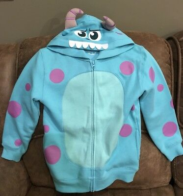EUC Disney Sulley Monsters Inc Hoodie Boys Girls Sweatshirt Jacket Medium