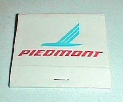 Piedmont Airline Book of Matches  Made by Universal Matches Greensboro, NC
