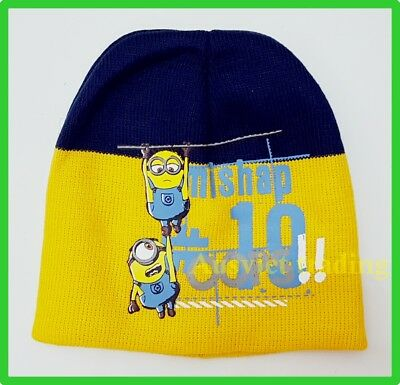 Despicable Me Minions boys kids girls cartoon Beanie dual layers Brand new