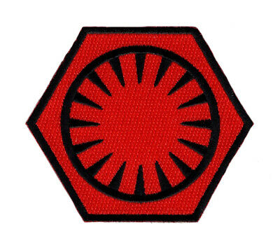 Star Wars First Order Embroidered 3.5 Inch Iron On Sew On Patch  (Red/Blk)