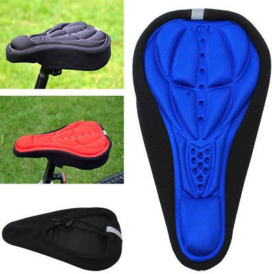 Cycling Bike 3D Silicone Gel Pad Seat Saddle Cover Soft Cushion Soft Comfort Pad