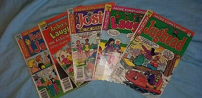 5 x Archie comics 1980-1983 Jughead, Laugh out,Josie and the Pussycats, Reggies