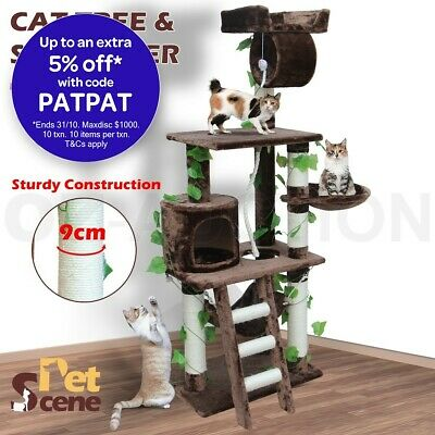 155cm Cat Scratcher Scratching Post Tree Gym House Furniture Pole Toy Medium