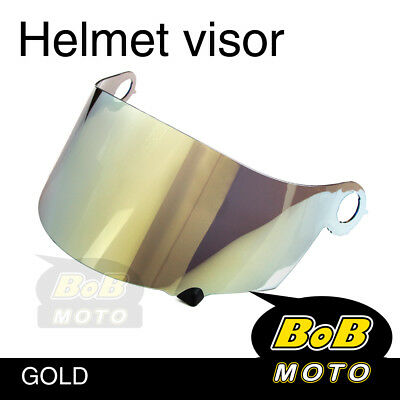 Aftermarket Suomy Gold Tinted Shield Helmet Visor Fit Spec 1R Extreme Apex