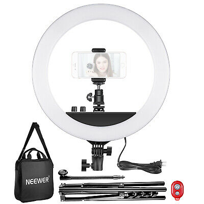 Neewer 14-inch Outer Dimmable LED Ring Light Kit with Light Stand and Soft Tube