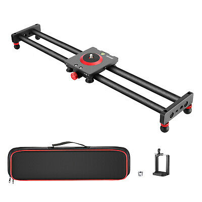 Neewer Camera Slider Carbon Fiber Dolly Rail 19.7 inches with 4 Bearings
